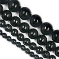 """Free shipping 4-10mm Pure Natural High quality Black Tourmaline Round Spacer Beads 15""""Diy Bracelet Necklace For Jewelry"""