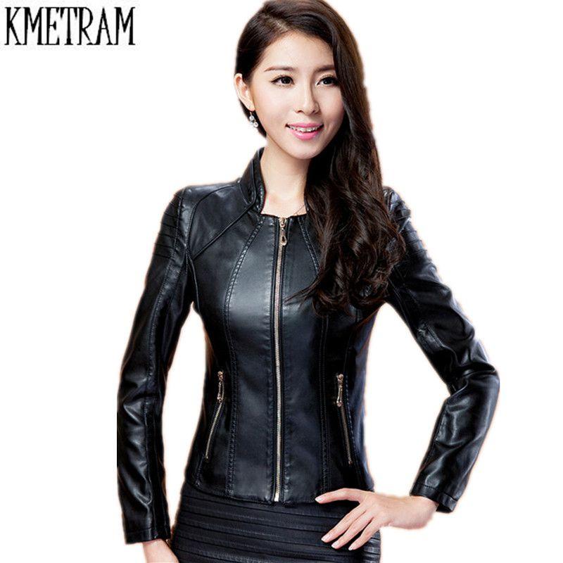 Leather Jacket Female 2019 Plus Size Fashion Trendy Autumn Winter Jaqueta Couro Short Coat Women Clothing
