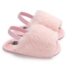 Г., летняя обувь для маленьких девочек модная облегающая детская сандалия из искусственного меха милые детские мягкие сандалии с подошвой сандалии для девочек
