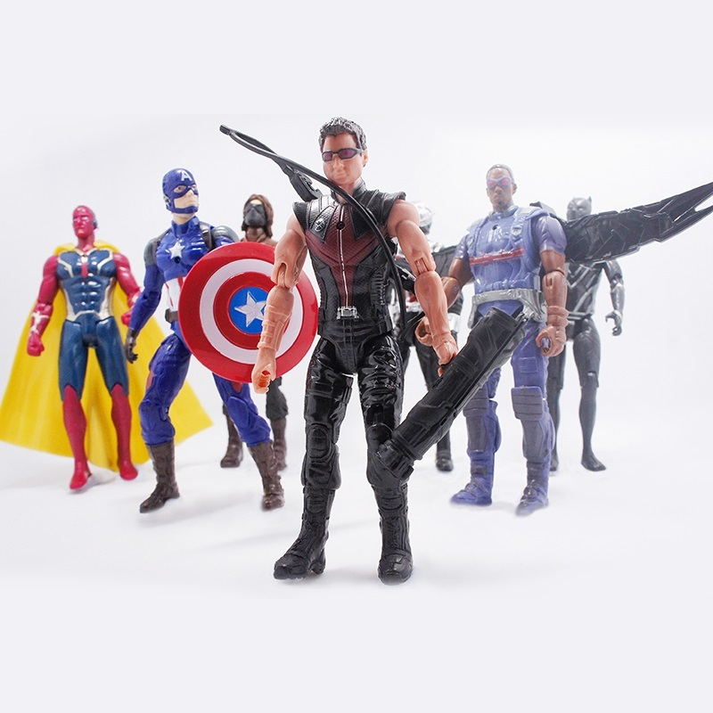 10 st Captain America 3 inbördeskrig vinter soldat Iron man action - Toy figuriner