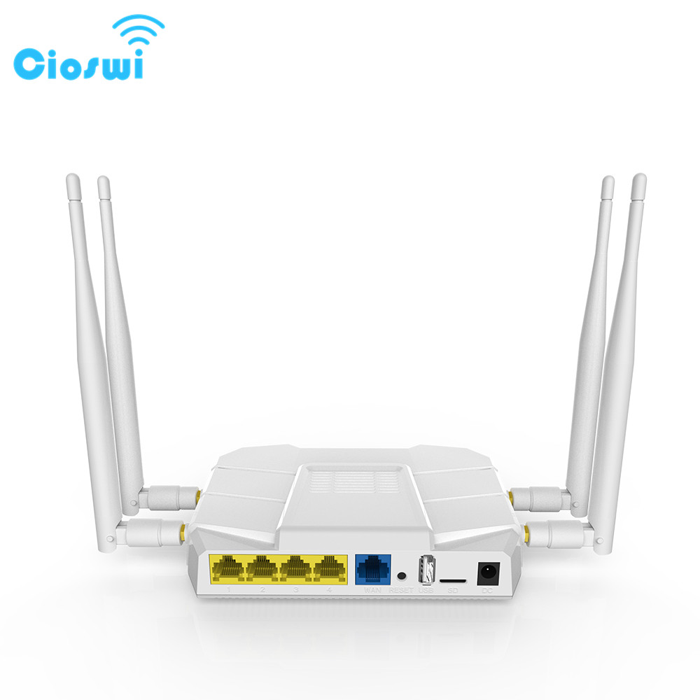 Cioswi 3G 4G Modem Gigabit Router Wlan Repeater Wi-fi 2.4G/5Ghz 1200 Mbps 4G Lte Router Modem 4G Wifi Sim Card For Office cioswi we1326 1200mbps gigabit router wifi repeater 5ghz openwrt 4g lte router modem 4g wifi sim card mt7621a 11ac dual band
