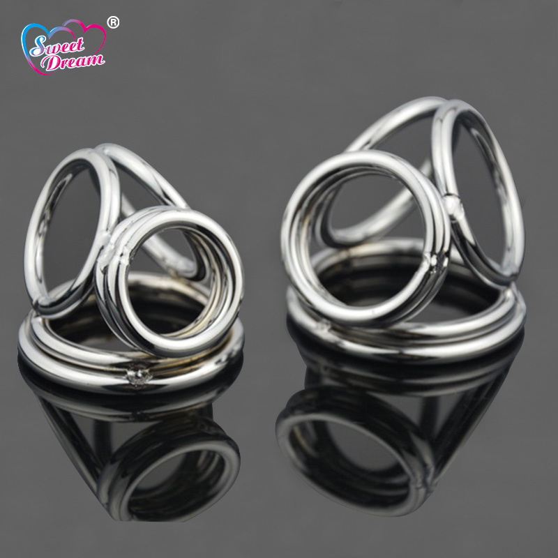 Sweet Dream S/L Stainless Steel 4 Metal Hoop Penis Rings Cock Ring Ball Stretcher Male Scrotum Adult Sex Toys for Men LF-112Sweet Dream S/L Stainless Steel 4 Metal Hoop Penis Rings Cock Ring Ball Stretcher Male Scrotum Adult Sex Toys for Men LF-112