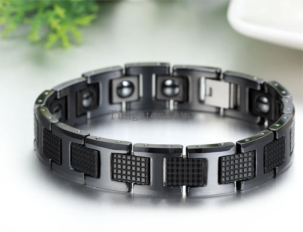 inch impl home therapy bracelets tungsten carbide shopcart magnetic sabrinasilver bracelet wide