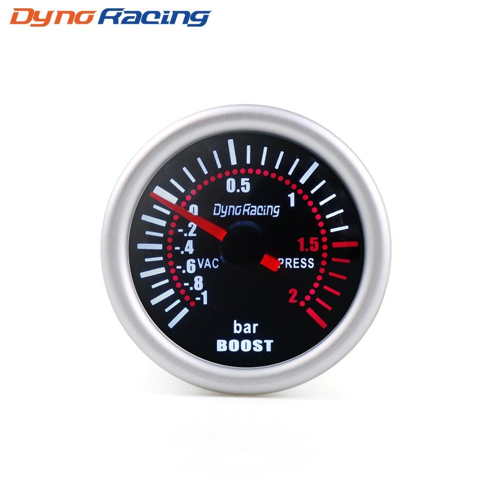 """Dynoracing """" 52 мм дымовая линза Boost gauge бар psi вакуумная температура воды Температура масла пресс вольтметр уровень топлива Тахометр Датчик Оборотов - Цвет: Boost gauge BAR"""