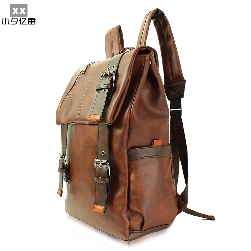 2016 Luxury Designer Leather Men Backpack Fashion Vintage Women Travel Backpack Large Capacity Duffel Bag Tactical Bag Sac A0153