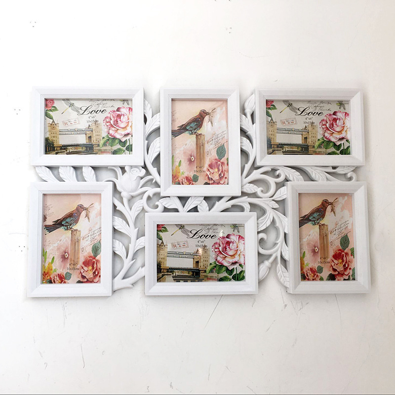 Hot Selling Newest Wholesale Picture Frame Wall Plastic Combination Conjoined Picture Frame European Rose Creative Picture WallHot Selling Newest Wholesale Picture Frame Wall Plastic Combination Conjoined Picture Frame European Rose Creative Picture Wall