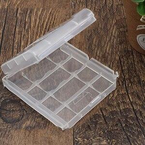 10 шт. AA/AAA Battey коробка пластиковый прозрачный белый новый жесткий пластиковый чехол держатель для AA/AAA батарея коробка для хранения цифровой ...