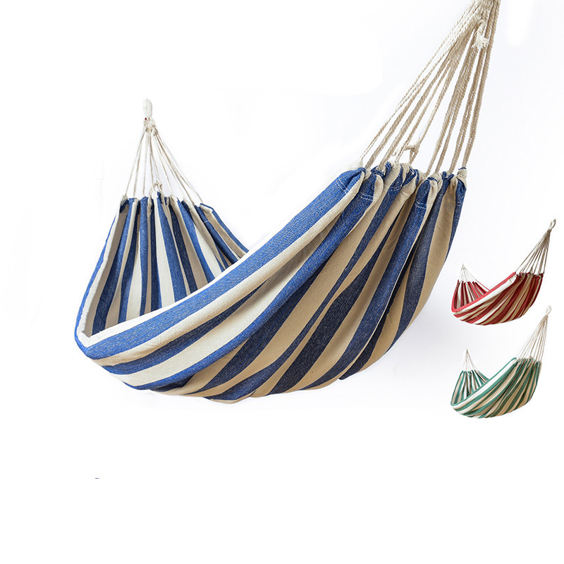 Backpack Portable Hammock for Camping Garden Beach Travel hanging bed Outdoor Ultralight stripes Cotton fabric Swings hammocks Backpack Portable Hammock for Camping Garden Beach Travel hanging bed Outdoor Ultralight stripes Cotton fabric Swings hammocks