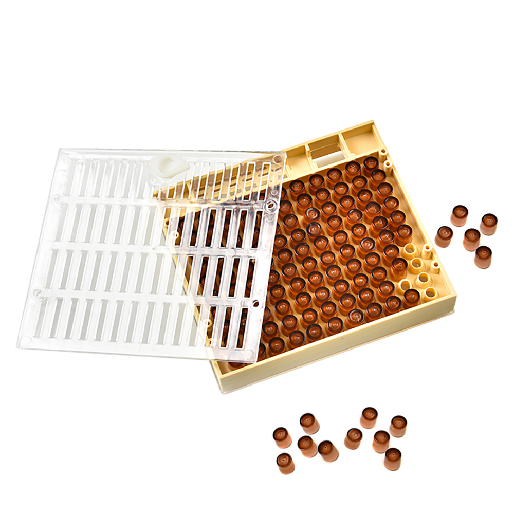 131pcs Bee Queen Rearing Cupkit Box System Beekeeping Cell Cage Cup Kit Z4R0