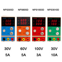 NPS 0 100V 0 10A Laboratory bench power supply three Digital Display adjustable Mini Switch DC Power Supply For phone repair