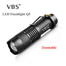 LED Flashlight Mini Zoom Tourch Led 7W CREE 2000LM Waterproof 3 Modes Zoomable Torch AA 14500 battery Flashlights(China)