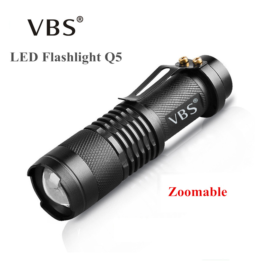 LED Flashlight Zoom Mini Tourch Led 7W 2000LM Waterproof <font><b>3</b></font> Modes Zoomable Tourche No Include AA 14500 battery Q5 Flashlight image