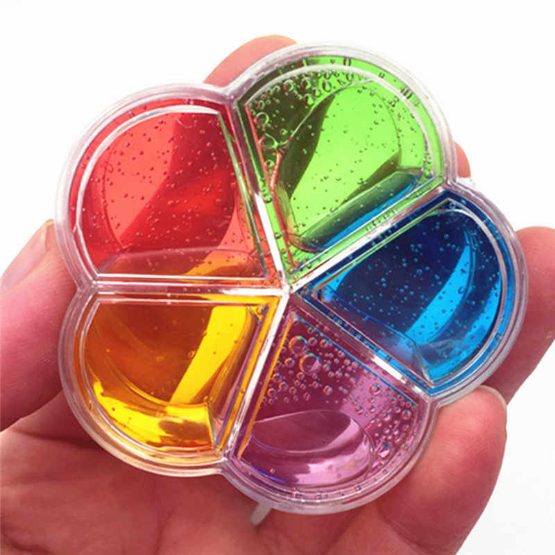 1pcs 5 color flower color mud Plum shape crystal color mud Jelly mud You can blow bubbles DIY clay toys Child toys slime