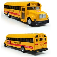 baby toy big size school bus Alloy + pull back + led light mask very cool boy toy gift for kids