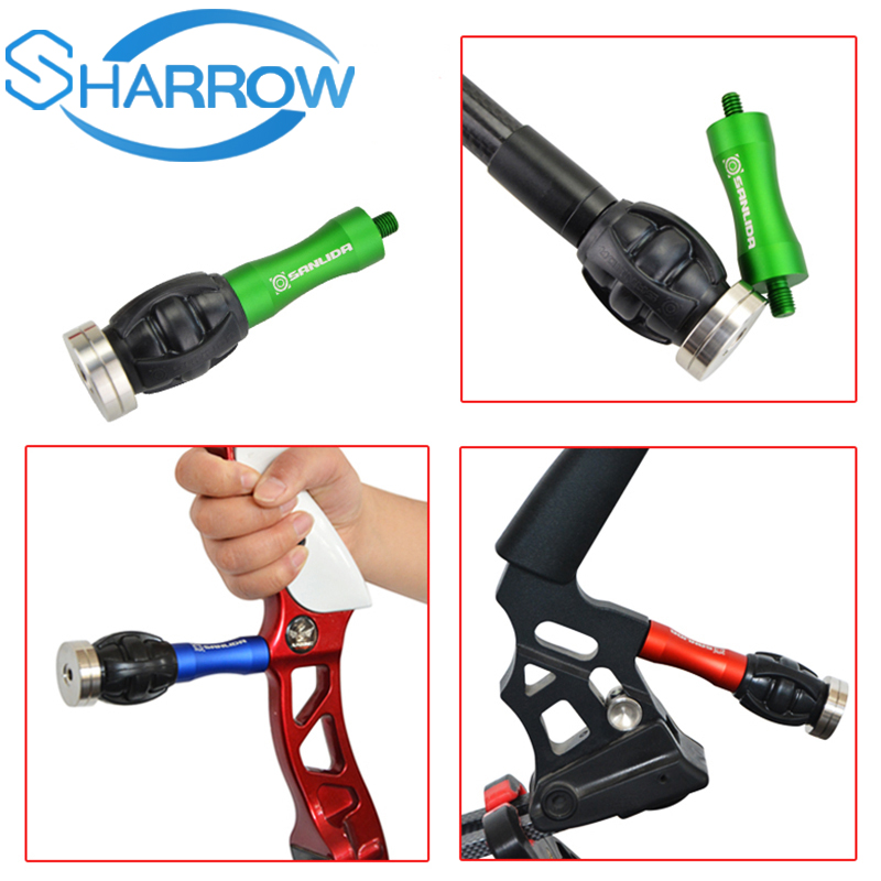 1pc Archery Bow Stabilizer Handle Weight Bow Riser Balance Bar Silencer Damping Ball Outdoor Shooting Accessories in Darts from Sports Entertainment