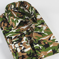 Mens  Military Formal Camouflage Shirt Green Long Sleeve  Camo Camp Shirt for Men Size 4XL Chemise Homme