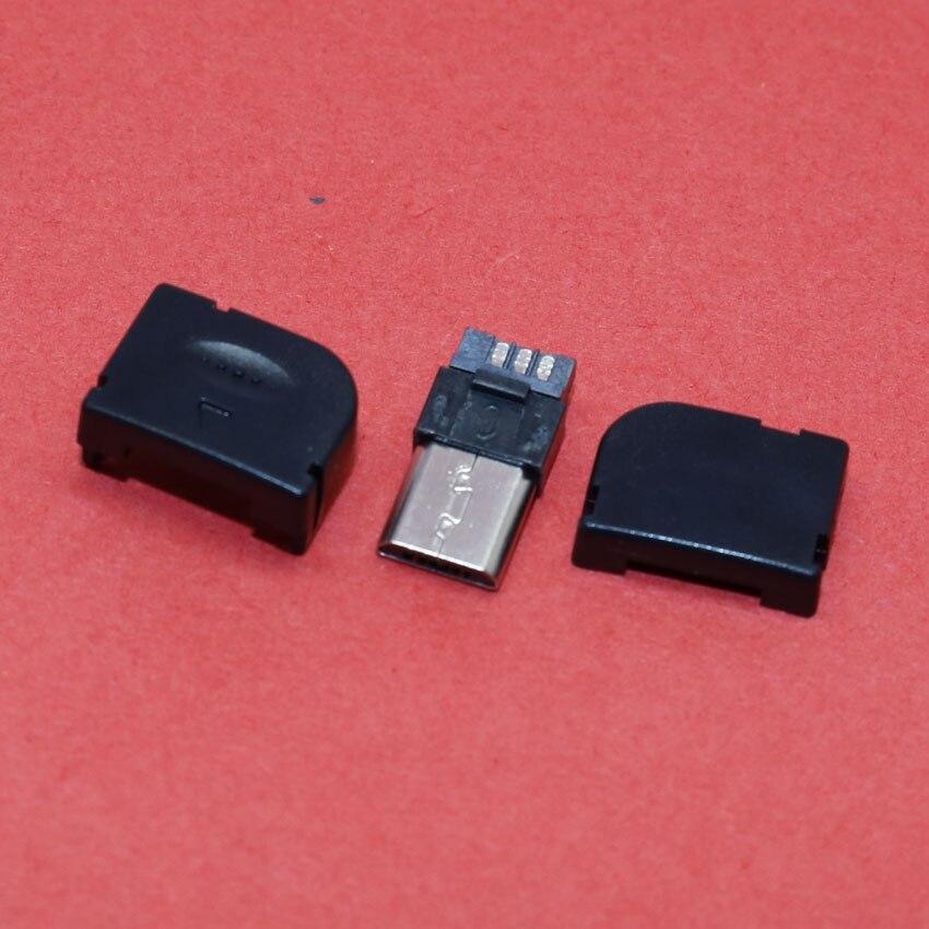 ChengHaoRan 1 Set Micro USB 90 degree plug DIY Weld wire type Solder Wire Male Micro USB Connector Solder type,MA-018 10pcs lot usb 2 0 4pin a type male plug
