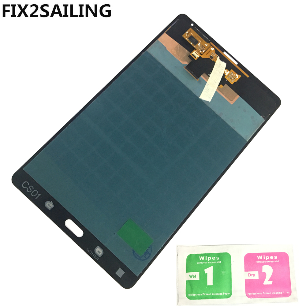 ЖК-дисплей Дисплей с Сенсорный экран планшета датчики Полное собрание Панель для samsung GALAXY Tab S 8,4 T700 черный/белый
