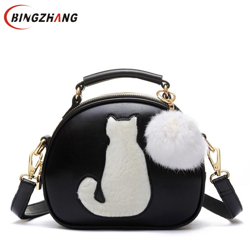 Cute Fox Rabbit Cat Bear Face Women Bag Baby Girl Mini Shoulder Bag For Women Cross Body Bags Lady PU Leather Handbags L4-3256 набор посуды frybest berry 10