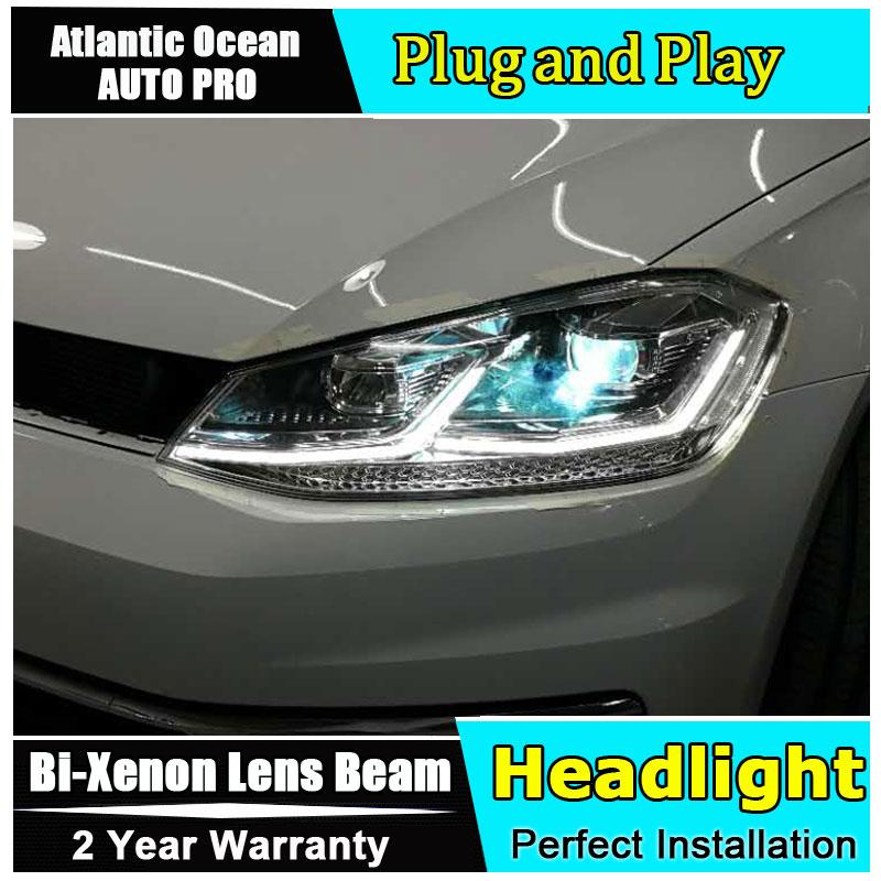 LED Headlight Kit H7 White 6000K High Beam Bulb for HYUNDAI Elantra GT 2013-2017