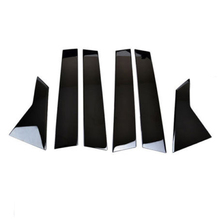 6pcs Black Window Pillar Posts Trims Cover Set High Quality Stock Durable Useful For Honda Civic 2016 2017 2018