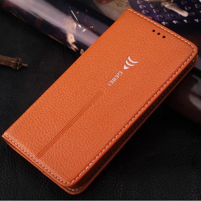 Luxury Original Brand GEBEI Leather Flip Unique Magnet Design Stand Case Cover For Samsung galaxy S6 S7 Edge S8 Plus S 6 7 8