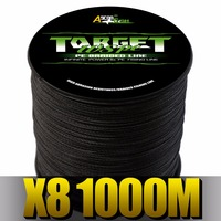 Ascon Fish 8 Strands Braided Fishing Line 1000m Super Strong 8 Braid Wire for Carp Fishing Multifilament Line 6 300LB Green