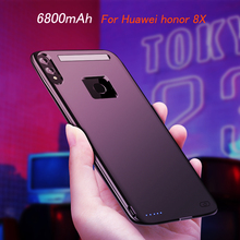 New 6800mAh Power Bank Battery Charger Case For Huawei honor 8X Case External Backup Charging Cover For honor 8X Battery Case