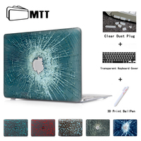 Red Crack Glass Laptop Computer Bag For Apple Mac Macbook Pro 15 Case Cover Macbook Pro