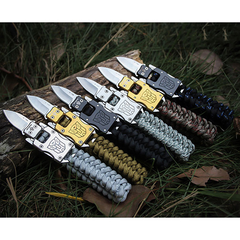 Outdoor Camping Survival Multi Functional Transformer Knife EDC Tactical With Packet Knife Self Defense Folding Pocket Knife ...