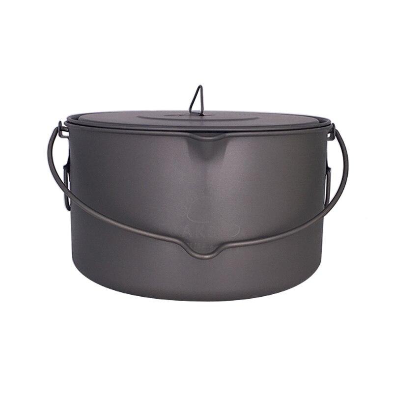 TOAKS Outdoor Camping Cookware Picnic Hang Pot Ultralight Titanium Pot 1600ml or 2000ml2