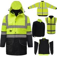 SFvest EN471 ANSI/SEA 107 AS/NZS Hi vis 7 в 1, водонепроницаемая парка, ветровка, рабочая одежда, дождевик, светоотражающая Защитная куртка