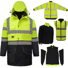 SFvest EN471 ANSI/SEA 107 AS/NZS Hi vis 7 in 1 waterproof pa