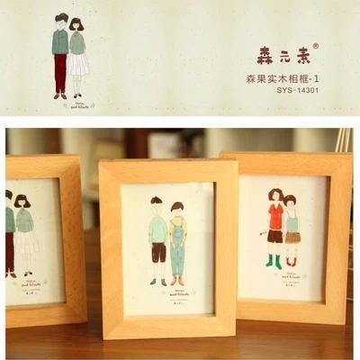 the new beech wood frames muji style photo frame free shipping - Muji Frames