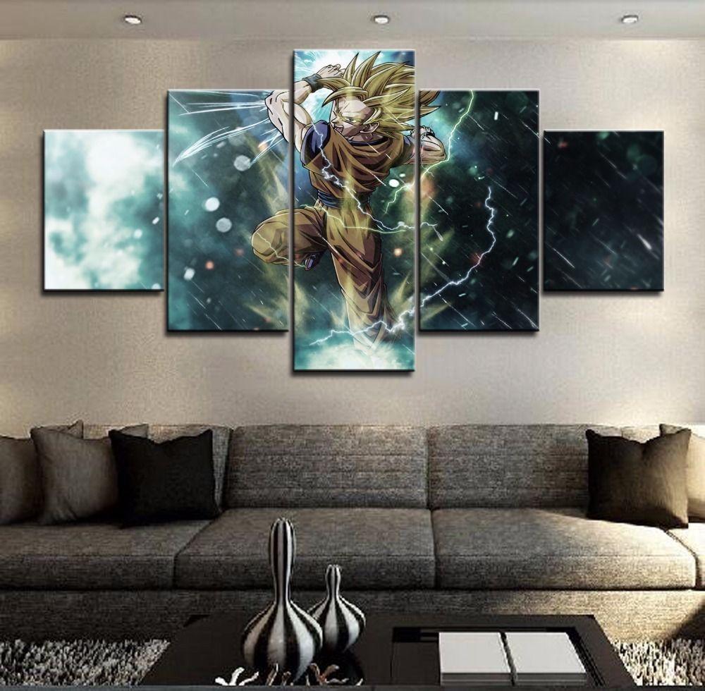 Large Framed Anime Modern Indoor Dragon Ball Z Super