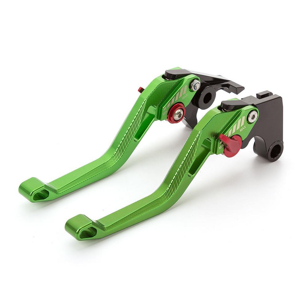 Adjustable BILLET Shorty Brake For Clutch Lever Green For Yamaha R1 2004-2008