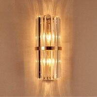 K9 настенное бра спальня бра с выключателем Гостиная Столовая Свет Спальня светодиодный светильник настенный отель Золотой Кристалл Бра На