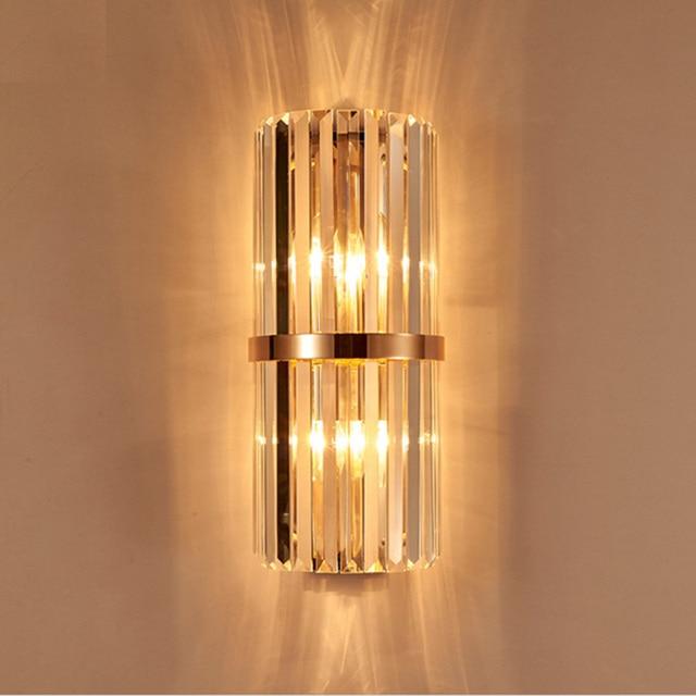 K9 Cristal Applique Murale Chambre Mur Lampe Avec Interrupteur Salon