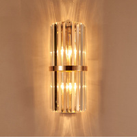 k9 crystal wall sconce bedroom wall lamp with switch livingroom dining light bedroom led wall light hotel gold crystal sconce