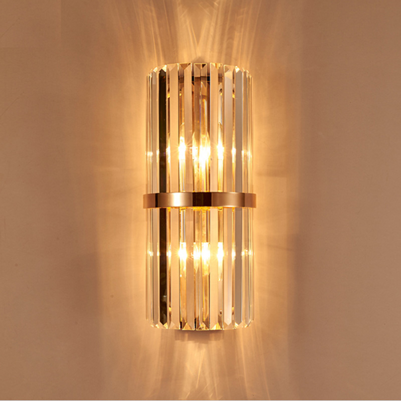 K9 Crystal Wall Sconce Bedroom Wall Lamp With Switch