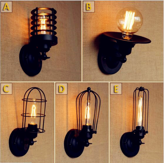 Provided Black Retro Vintage Wall Lights Fixtures Living Room Led Loft Lamp Industrial Wall Light Edison Sconce Lamparas De Pared Colours Are Striking Led Lamps