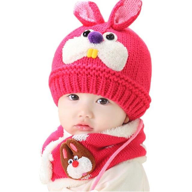 Venta caliente Del Bebé de Punto Sombrero de La Bufanda Del Invierno ...
