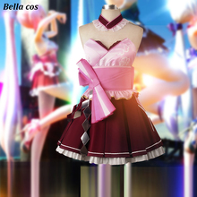 Hot sale VOCALOID Megurine Luka mercy cosplay costume dress uniform  Halloween dresses Carnival Anime clothes party 4ae70fc2e2aa