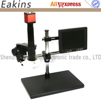 13MP HDMI VGA Digital Industry Video Microscope Camera Set + Big Stand Universal bracket +300X C-MOUNT Lens+ 8