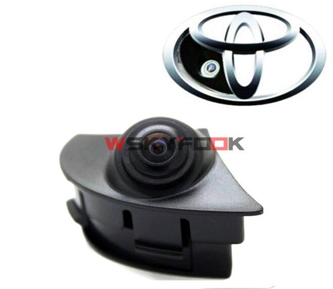 imágenes para 600L de visión nocturna CCD Cámara Frontal Del Coche Cámara de Aparcamiento Para 2012 2013 Toyota Highlander 2012 2015 Camry/RAV4/Corolla