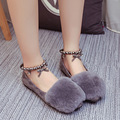 Ultra - sprouting lazy rabbit plush flat shoes 2016 autumn and winter new women 's shoes scoop shoes plush shoes b2