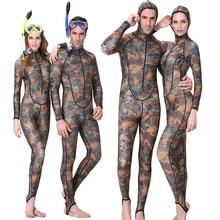 Женский костюм для серфинга, spearfishing лайкра пара костюм с камуфляжным принтом кожи погружения гидрокостюм цельный с капюшоном Перейти УФ проктион Для мужчин Для женщин водолазный костюм