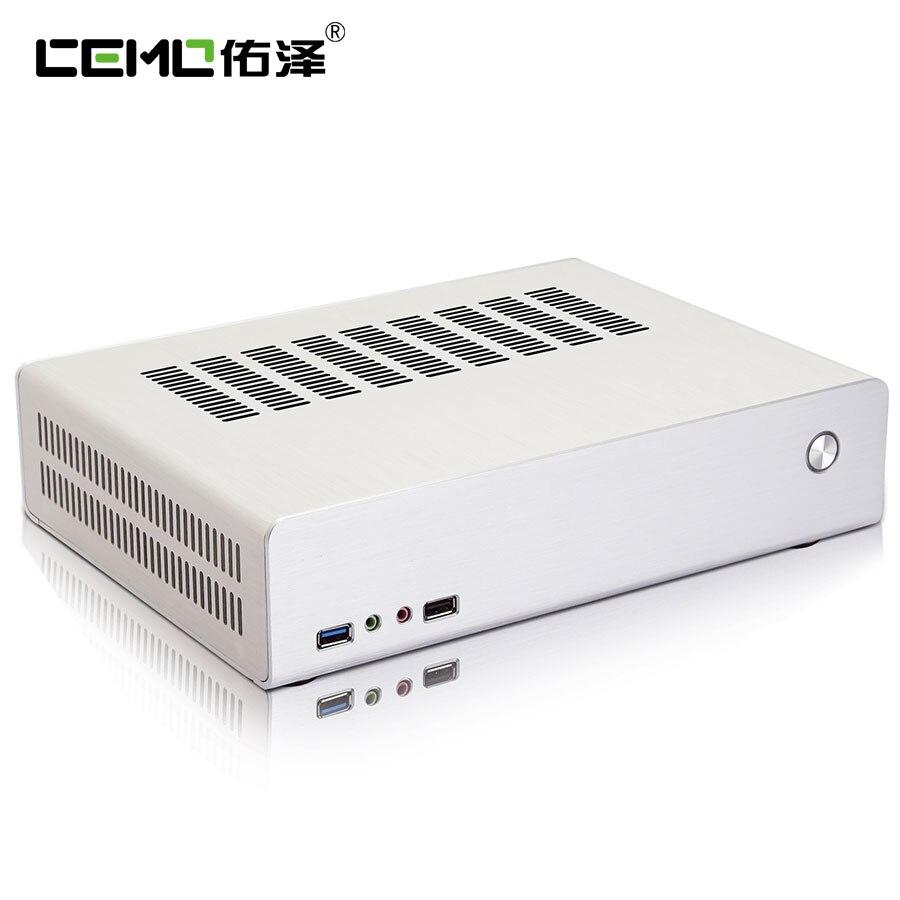 7003 Aluminum Mini Itx Desktop Case Host Computer Small Computer Case Htpc Power Supply Bundle