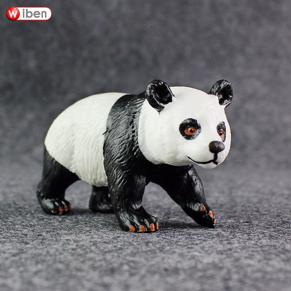 Wiben Toys-Set Panda-Model Solid-Toys Animal Plastic Bear Cute Dark-Circles Giant Children