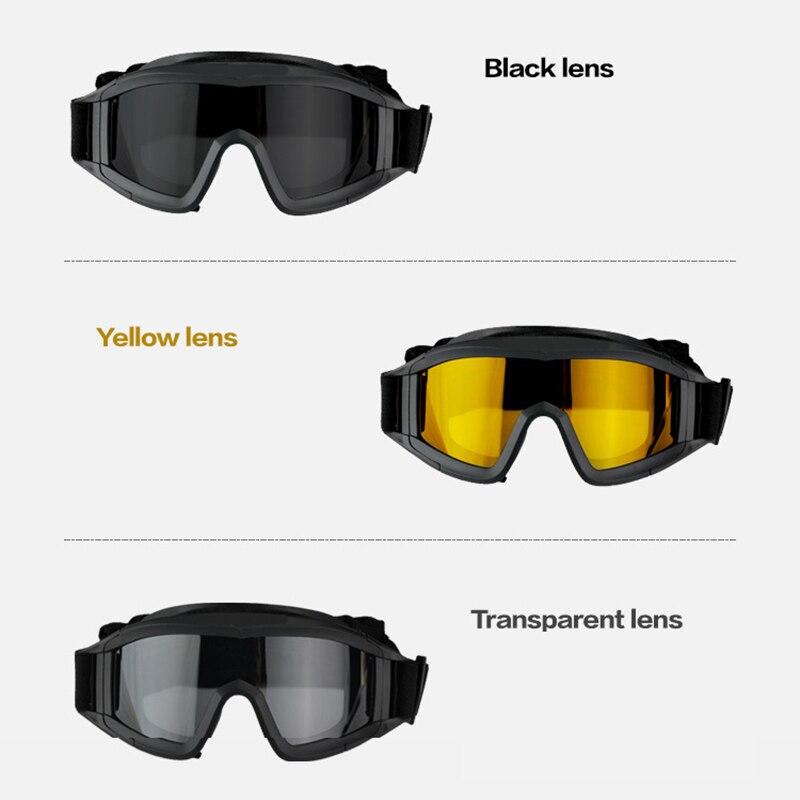 AC634 Paintball BB PCP tactique SWAT masque lunettes Protection des yeux avec 3 lentillesAC634 Paintball BB PCP tactique SWAT masque lunettes Protection des yeux avec 3 lentilles